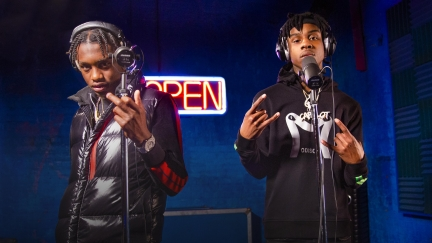 Polo G & Lil Tjay « Pop Out » OPEN MIC (2019)